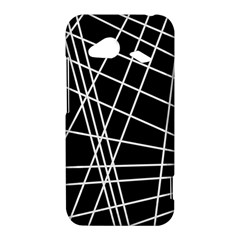 Black and white simple design HTC Droid Incredible 4G LTE Hardshell Case