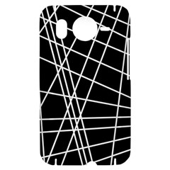 Black and white simple design HTC Desire HD Hardshell Case