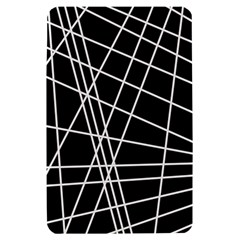 Black and white simple design Kindle Fire (1st Gen) Hardshell Case
