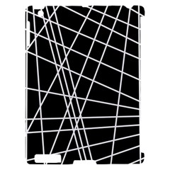 Black and white simple design Apple iPad 2 Hardshell Case (Compatible with Smart Cover)