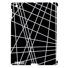 Black and white simple design Apple iPad 3/4 Hardshell Case (Compatible with Smart Cover)