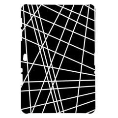 Black and white simple design Samsung Galaxy Tab 10.1  P7500 Hardshell Case