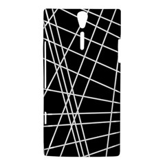 Black and white simple design Sony Xperia S