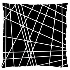 Black and white simple design Large Cushion Case (Two Sides)
