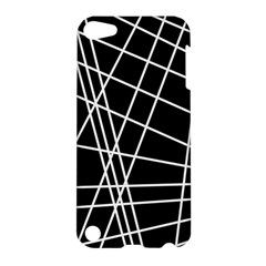 Black and white simple design Apple iPod Touch 5 Hardshell Case