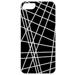 Black and white simple design Apple iPhone 5 Classic Hardshell Case