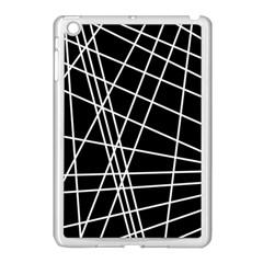 Black and white simple design Apple iPad Mini Case (White)