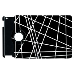 Black and white simple design Apple iPad 3/4 Flip 360 Case