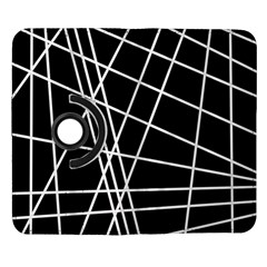 Black and white simple design Samsung Galaxy Note II Flip 360 Case
