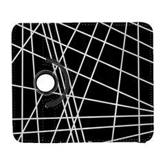 Black and white simple design Samsung Galaxy S  III Flip 360 Case