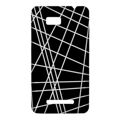 Black and white simple design HTC One SU T528W Hardshell Case