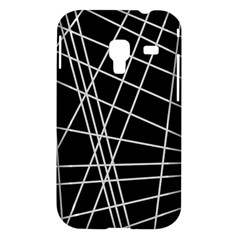 Black and white simple design Samsung Galaxy Ace Plus S7500 Hardshell Case