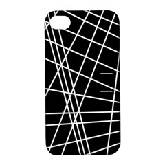 Black and white simple design Apple iPhone 4/4S Hardshell Case with Stand