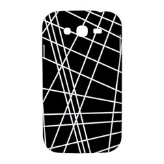 Black and white simple design Samsung Galaxy Grand DUOS I9082 Hardshell Case