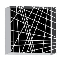 Black and white simple design 5  x 5  Acrylic Photo Blocks