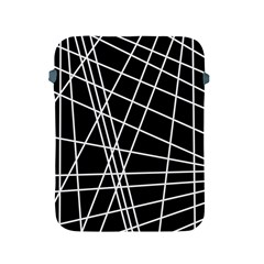Black and white simple design Apple iPad 2/3/4 Protective Soft Cases