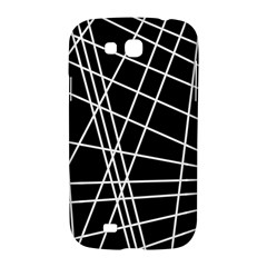 Black and white simple design Samsung Galaxy Grand GT-I9128 Hardshell Case