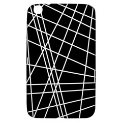 Black and white simple design Samsung Galaxy Tab 3 (8 ) T3100 Hardshell Case