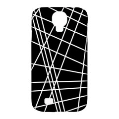 Black and white simple design Samsung Galaxy S4 Classic Hardshell Case (PC+Silicone)