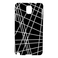Black and white simple design Samsung Galaxy Note 3 N9005 Hardshell Case