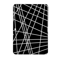 Black and white simple design Samsung Galaxy Tab 2 (10.1 ) P5100 Hardshell Case