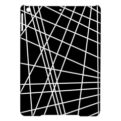 Black and white simple design iPad Air Hardshell Cases
