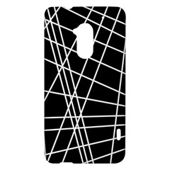 Black and white simple design HTC One Max (T6) Hardshell Case