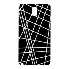 Black and white simple design Samsung Galaxy Note 3 N9005 Hardshell Back Case