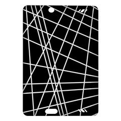 Black and white simple design Amazon Kindle Fire HD (2013) Hardshell Case