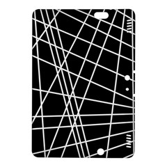 Black and white simple design Kindle Fire HDX 8.9  Hardshell Case