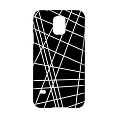 Black and white simple design Samsung Galaxy S5 Hardshell Case
