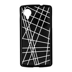 Black and white simple design Nexus 5 Case (Black)