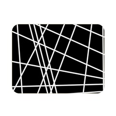 Black and white simple design Double Sided Flano Blanket (Mini)