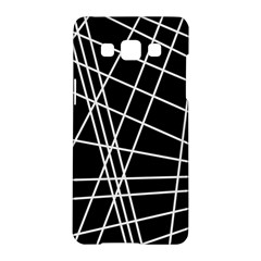 Black and white simple design Samsung Galaxy A5 Hardshell Case