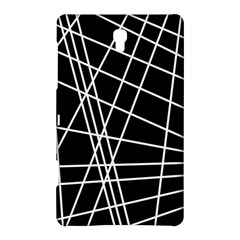 Black And White Simple Design Samsung Galaxy Tab S (8 4 ) Hardshell Case
