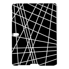 Black and white simple design Samsung Galaxy Tab S (10.5 ) Hardshell Case