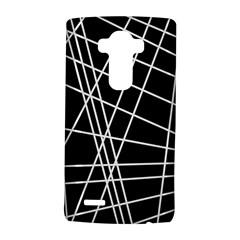 Black and white simple design LG G4 Hardshell Case
