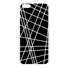 Black and white simple design Apple Seamless iPhone 6 Plus/6S Plus Case (Transparent)