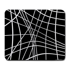 Black and white elegant lines Large Mousepads