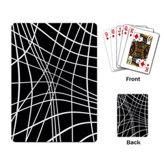 Black and white elegant lines Playing Card
