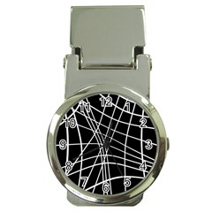 Black and white elegant lines Money Clip Watches