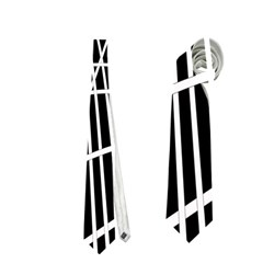 Black and white elegant lines Neckties (One Side)
