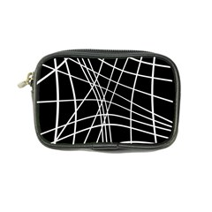 Black and white elegant lines Coin Purse