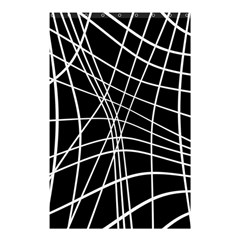 Black and white elegant lines Shower Curtain 48  x 72  (Small)