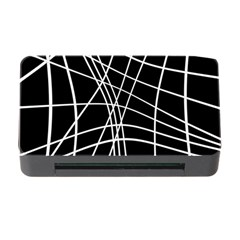 Black and white elegant lines Memory Card Reader with CF
