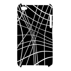 Black and white elegant lines Apple iPod Touch 4