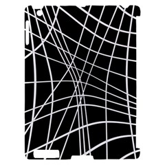 Black and white elegant lines Apple iPad 2 Hardshell Case (Compatible with Smart Cover)