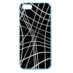 Black and white elegant lines Apple Seamless iPhone 5 Case (Color)