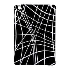 Black and white elegant lines Apple iPad Mini Hardshell Case (Compatible with Smart Cover)