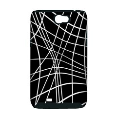 Black and white elegant lines Samsung Galaxy Note 2 Hardshell Case (PC+Silicone)
